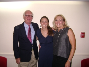 Ted Pollard and Pam Sedor with Victoria Wyeth on October 1, 2013