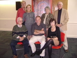 Dr. Don Yoder, William Woys Weaver, Evie Giegerich, Jim Giegerich, Pam Sedor, Gladys Nigro on October 22, 2013 at author event for Shoofly Pie...