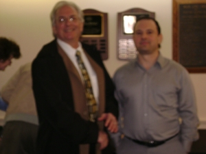 J. Michael Morrison, President of King of Prussia Historical Society, with author Michael Shaw