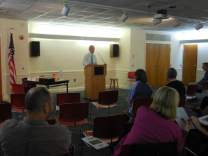 Superintendent of Police, Michael J. Chitwood (Upper Darby Township) at author event for Tough Cop on Octobe 13, 2014