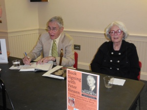 Peter Binzen (author of Richardson Dilworth biography) and Deborah Bishop (daughter of Richardson Dilworth) at the book signing  on 1/13/15