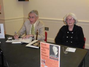 Peter Binzen (author of Richardson Dilworth biography) and Deborah Bishop (daughter of Richardson Dilworth) at the book signing  on 1/13/15