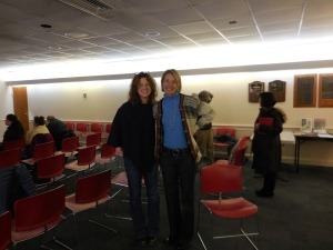 At the GBBC, on 1/31/15, Laura Luker, Gretchen Groebel