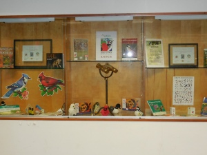 Library lobby display for the GBBC, courtesy of Kathleen Pollack