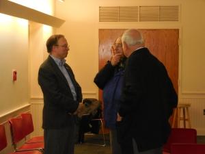 James B. Garrison, (left) author of Stone Houses, on 2/3/15