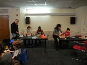 Dan Meier, volunteered his carpentry skills for the workshop.