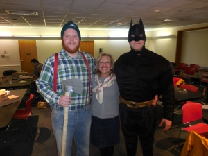 Pam with the dynamic duo