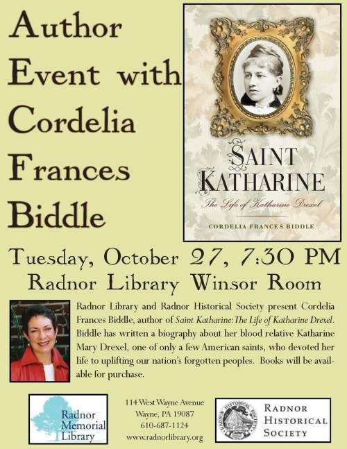 Author Event with Cordelia Frances Biddle