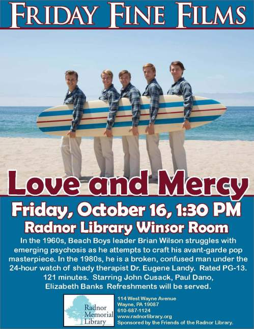 Friday Fine Films- Love and Mercy