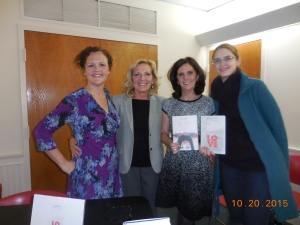 Local author Beth Kephart with Pam Sedor and RML Director, Anny Laepple, and an unidentified fan of Beth's.