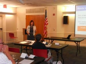 Lynn Williams at SCORE event on September 15, 2015.