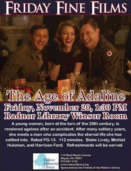 Friday Fine Films- The Age of Adaline