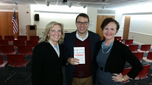 Lt. Col. John A. Nagl, author and Headmaster at Haverford School with Anny Laepple and Pam Sedor