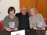 Evie Giegerich, Pam Sedor, with author George Anastasia