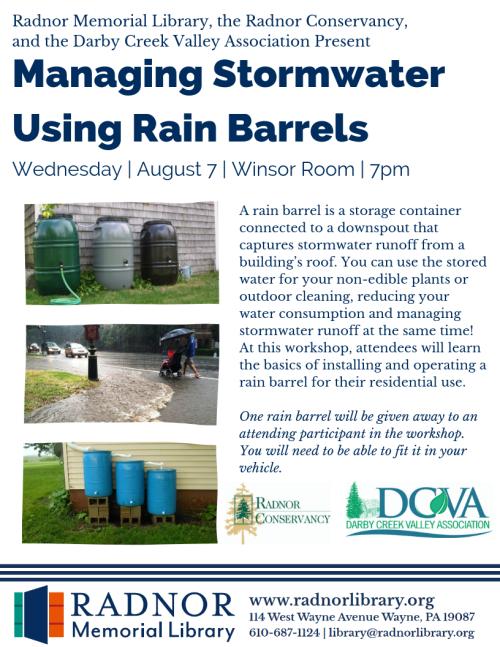 Rain Barrels - Poster - Summer19
