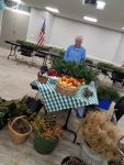 Mary at the Wreath Decorating Workshop